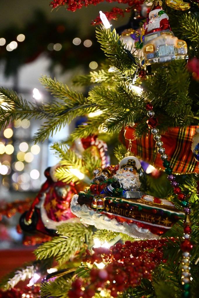 Nautical Nick Christmas Ornament and Tree | ©homeiswheretheboatis.net #Christmas #tree