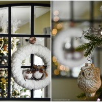 An Easy Finger Knitting Project + DIY Winter Wreath