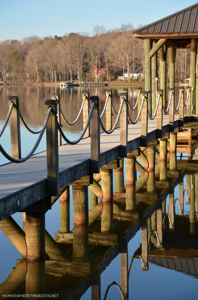 Weekend Waterview Lake Norman February | ©homeiswheretheboatis.net #LKN #lake #reflections