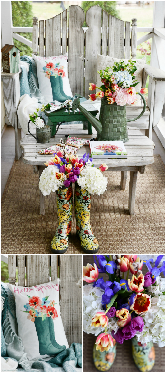 Hello Spring on the porch | ©homeiswheretheboatis.net