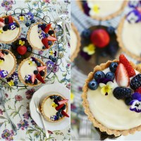 Mini Lemon Curd + Cream Cheese Tarts