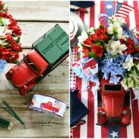DIY Whimsical Patriotic Centerpiece + Tablescape for Independence Day