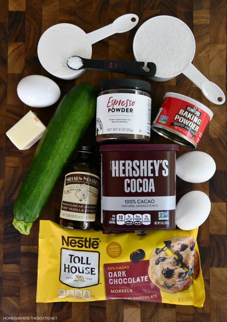 Fudgy Zucchini Brownies | ©homeiswheretheboatis.net #brownies #recipes #zucchini