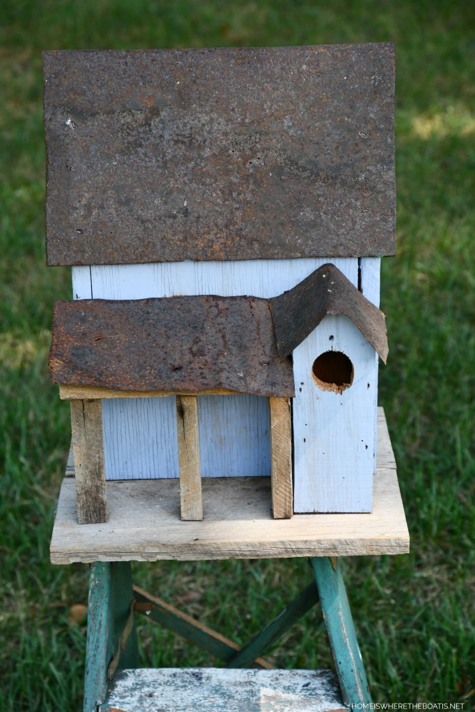 """Before"": How To Add Curb Appeal & Vintage Charm To A Birdhouse 