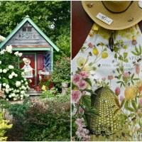 Potting Shed Back Door + Bee in My Bonnet