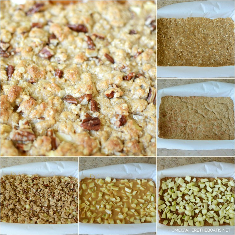Easy Caramel Apple Bars | ©homeiswheretheboatis.net #easy #apple #recipes #bars #dessert #fall