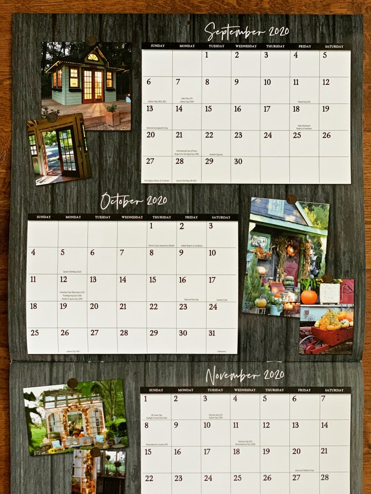 Potting Shed in She Shed Living Calendar | ©homeiswheretheboatis.net #fall #shed