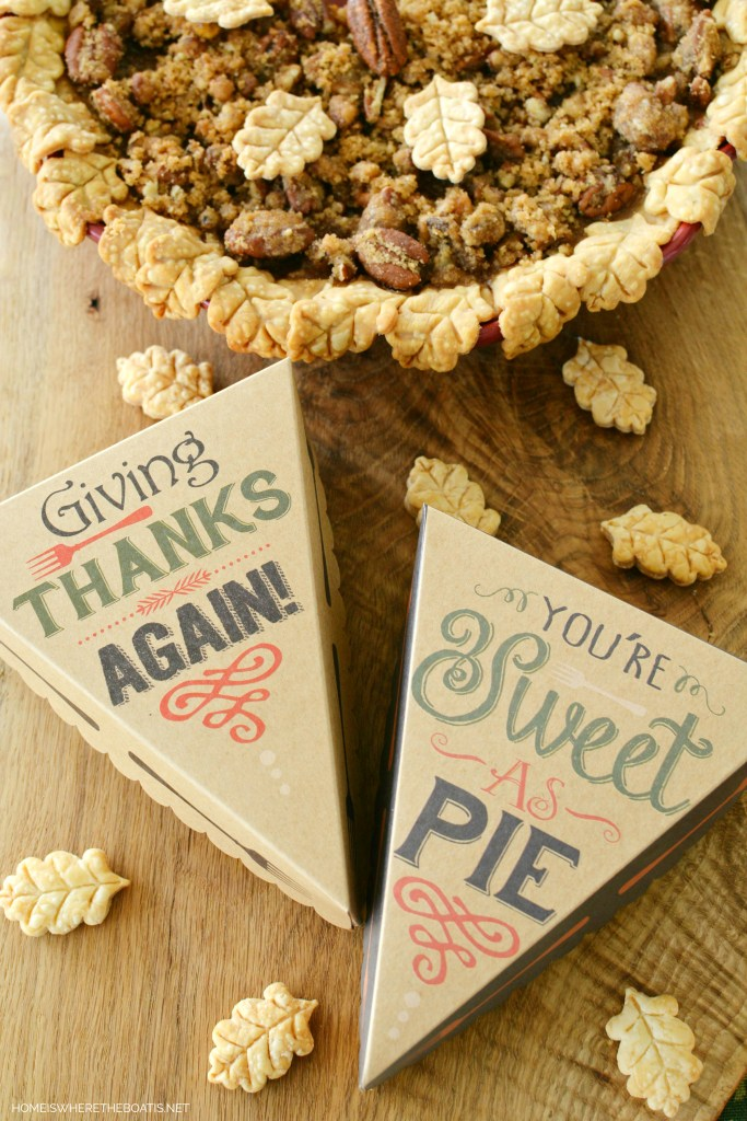 Pie slice boxes make fun to-go containers for Thanksgiving | homeiswheretheboatis.net
