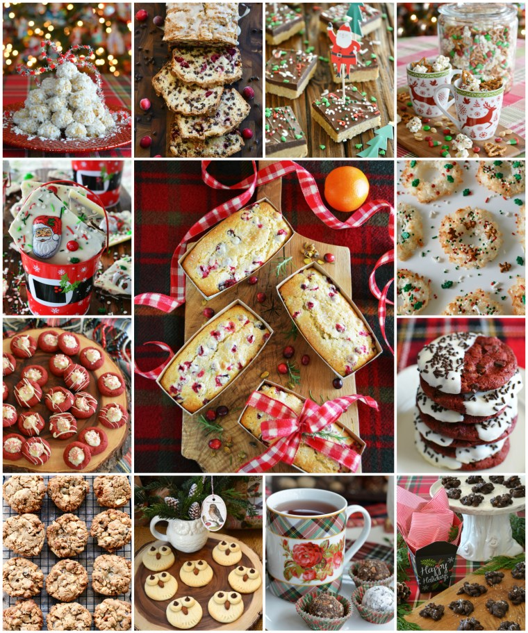 20+ recipes for baking or gifting to make your holidays extra sweet! You'll also find quick and easy no-bake treats for bars, snack mix and cocoa mix too | ©homeiswheretheboatis.net #christmas #recipes #cookies #bars #nobake #foodgifts