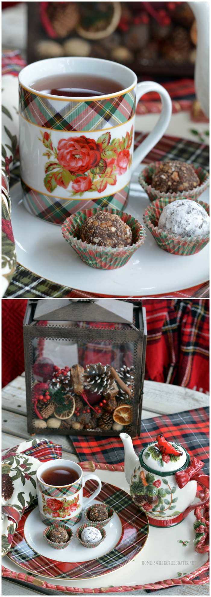 Pecan Bourbon Balls | ©homeiswheretheboatis.net #christmas #nobake #recipes