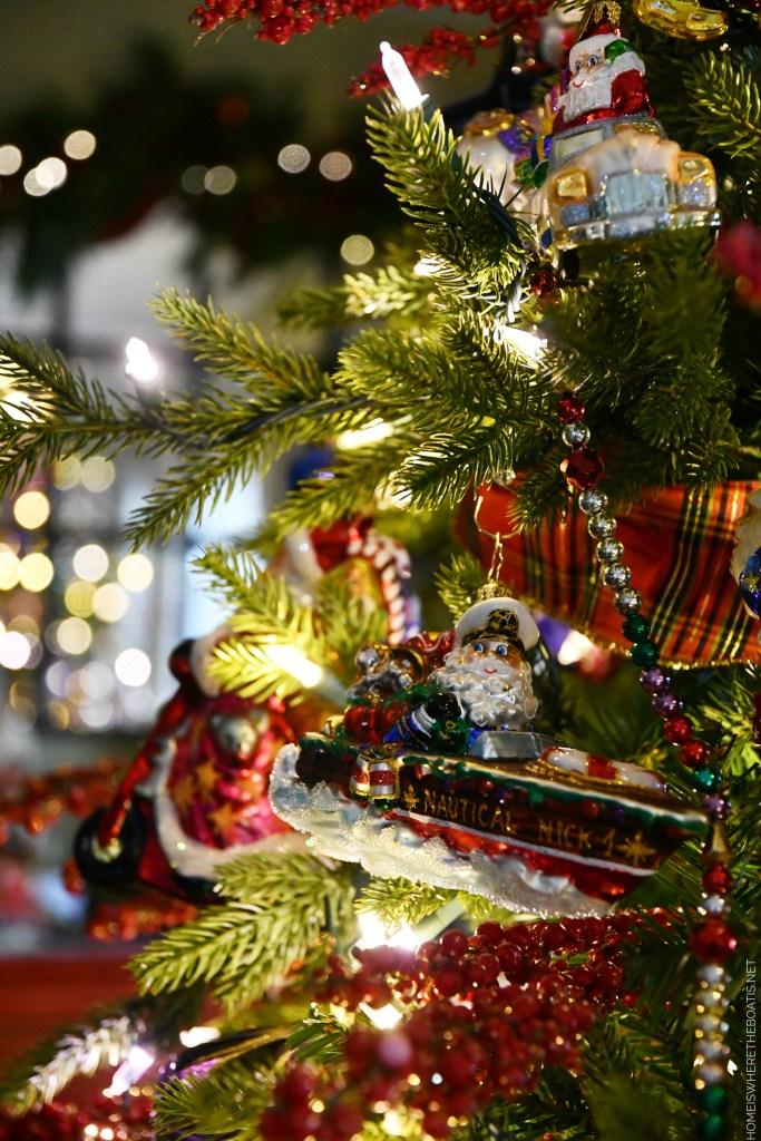 Nautical Nick boat ornament | ©homeiswheretheboatis.net #christmas #ornaments #radko #tree