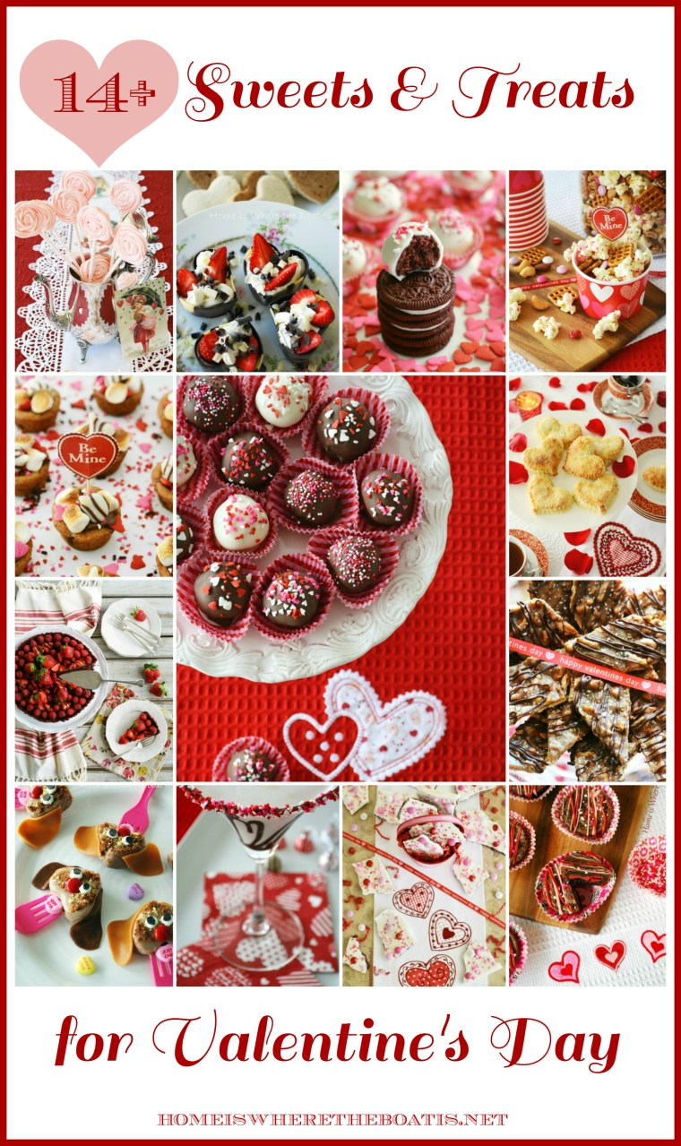 14+ Sweets & Treats to make your Valentine's Day celebration extra sweet! | homeiswheretheboatis.net #ValentinesDay #recipes #nobake #cocktail #handpie #truffle