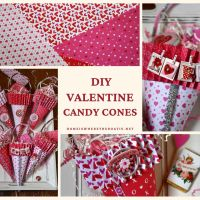 Valentine's Day DIY Candy Cones