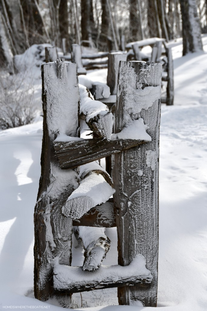 Fence in snow | ©homeiswheretheboatis.net #snow #ncmountains