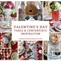 Valentine's Day Tablescape and Centerpiece Round Up