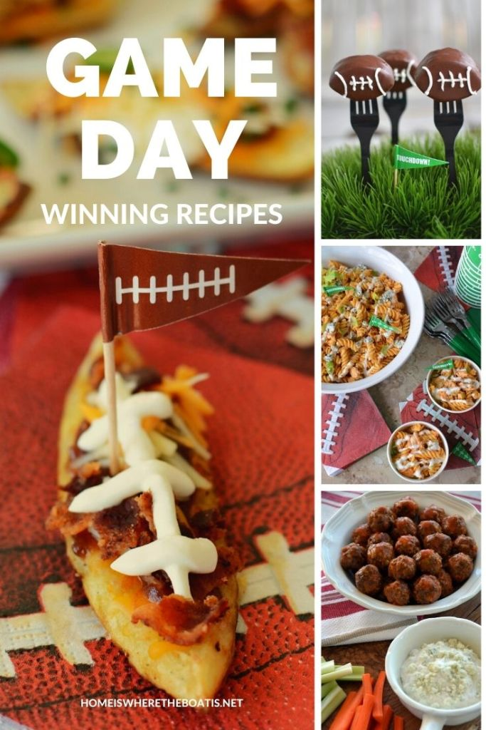 Game Day recipes for your Super Bowl Snacking, next tailgate or to kick off football season! | ©homeiswheretheboatis.net #footballfood #superbowl #gameday #recipes