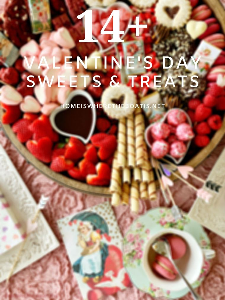 14+ Sweets & Treats for Valentine's Day | homeiswheretheboatis.net #ValentinesDay #recipes #nobake #cocktail #handpie #truffle