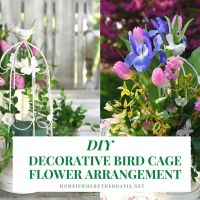 How to Make a Flower Arrangement Using A Decorative Bird Cage
