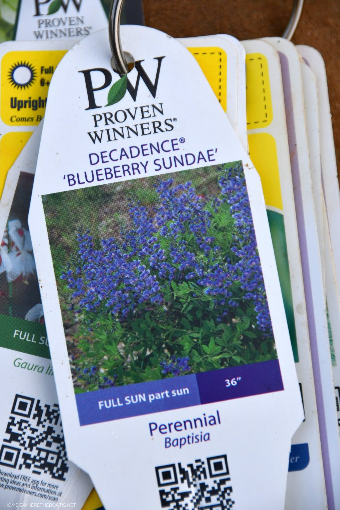 Easy method for plant tag organization for garden flowers! | ©homeiswheretheboatis.net #pottingshed #garden #flowers