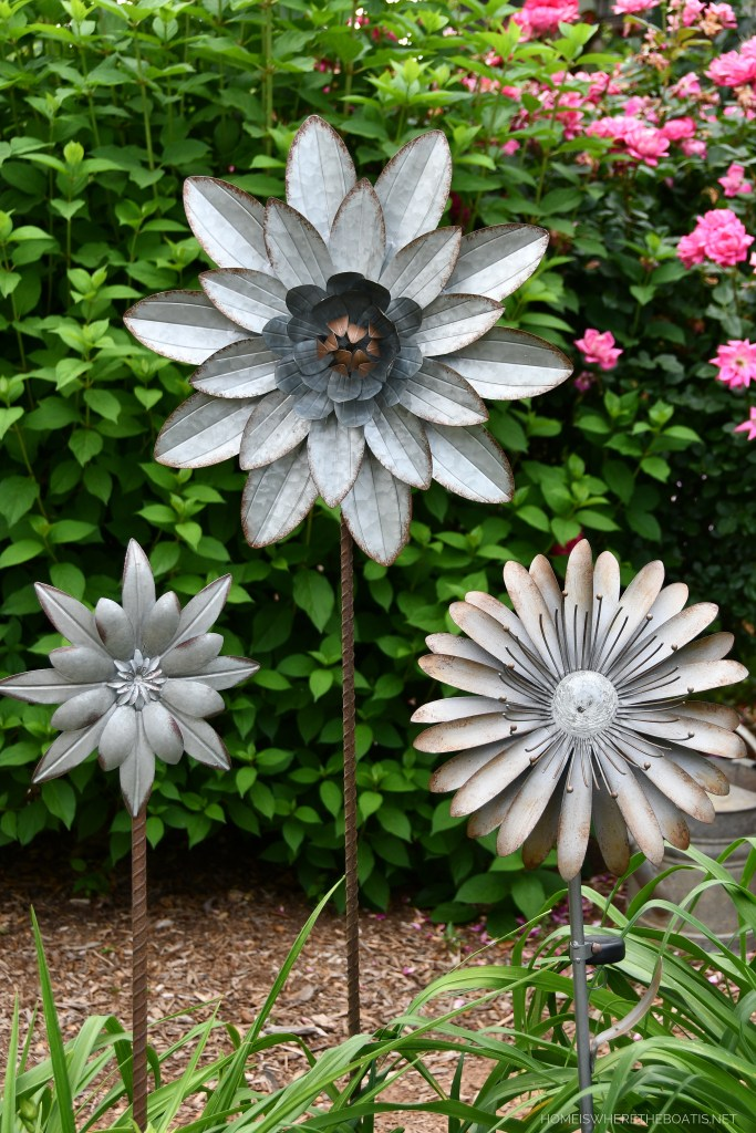 """How to """"Grow"""" Whimsical Garden Flower Stakes from Metal Wall Art 