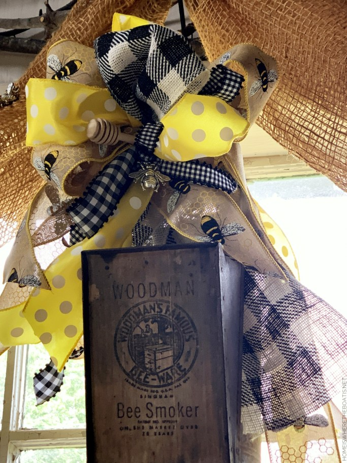 Woodman's Famous Bee-Ware Smoker | ©homeiswheretheboatis.net #bees #tablescapes