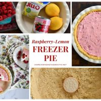 No-Bake Raspberry-Lemon Freezer Pie for the Lazy Days of Summer