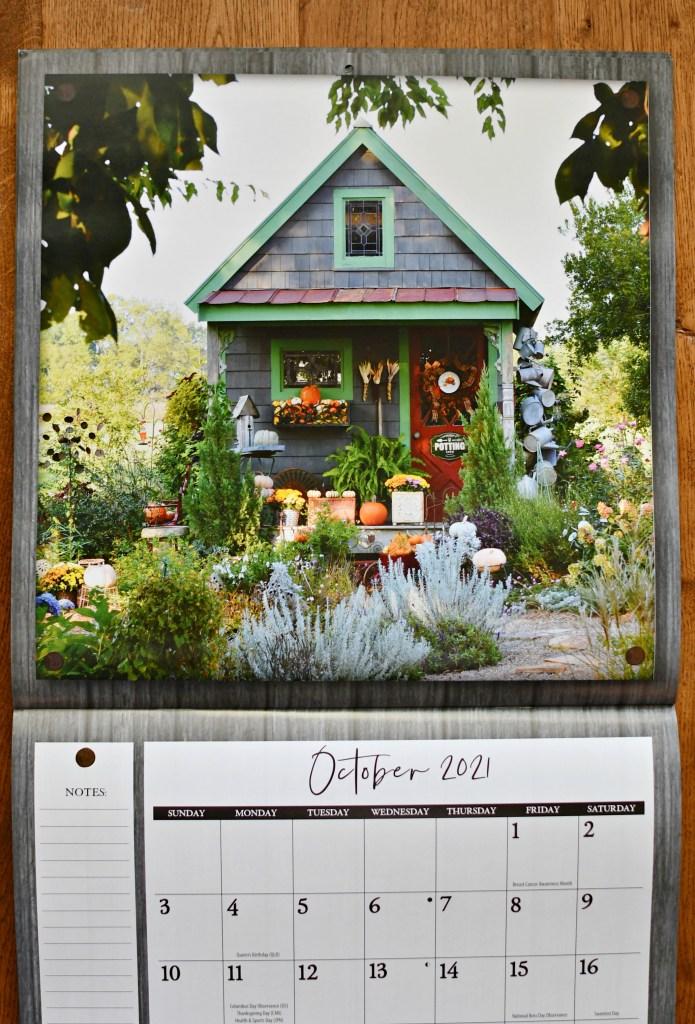 Potting Shed in She Shed Living Calendar | ©homeiswheretheboatis.net #fall #shed
