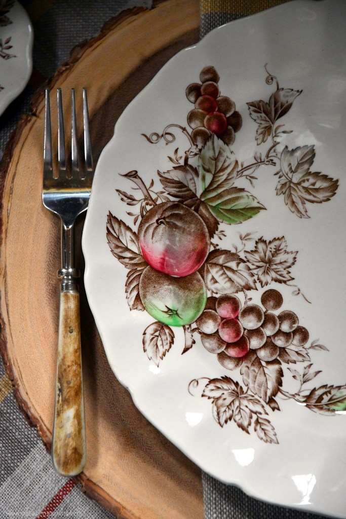 Harvest Time by Johnson Brothers with pumpkin | ©homeiswheretheboatis.net #fall #harvest #tablescape