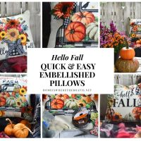 Hello Fall: Quick and Easy Embellished Pillow Covers
