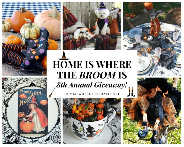 Home is Where the Broom Is: 8th Annual Halloween Giveaway! | ©homeiswheretheboatis.net #tablescapes #recipes #Halloween #witch #DIY