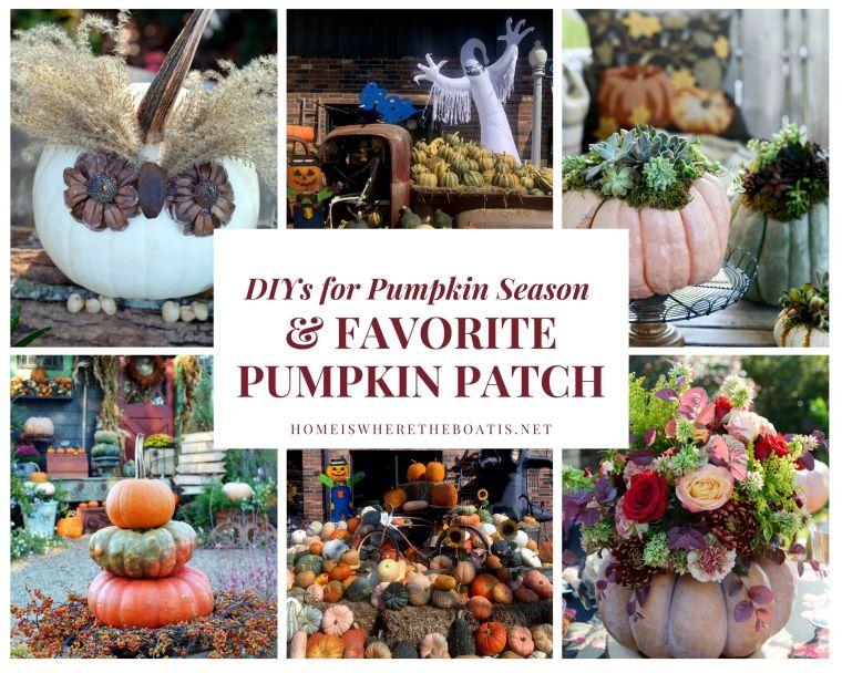 DIYs for Pumpkin Season and a Favorite Pumpkin Patch | ©homeiswheretheboatis.net #pumpkins #fall