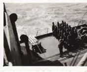 Navy burial at sea.