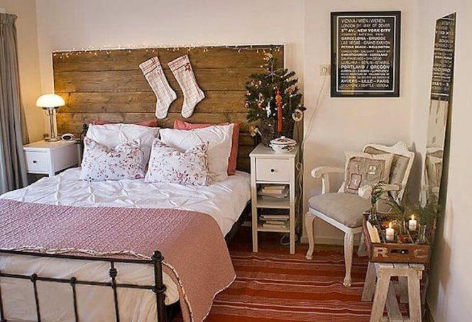 Scandinavian Christmas Bedroom