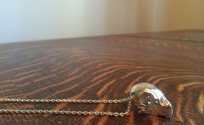 Review of Skeletos parakeet skull necklace