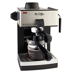 Mr. Coffee 4-Cup Steam Espresso with Milk Frother