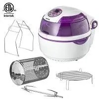 Gourmia GTA1500 Digital Electric Air Fryer, Griller and Roaster With Calorie Reducer Technology