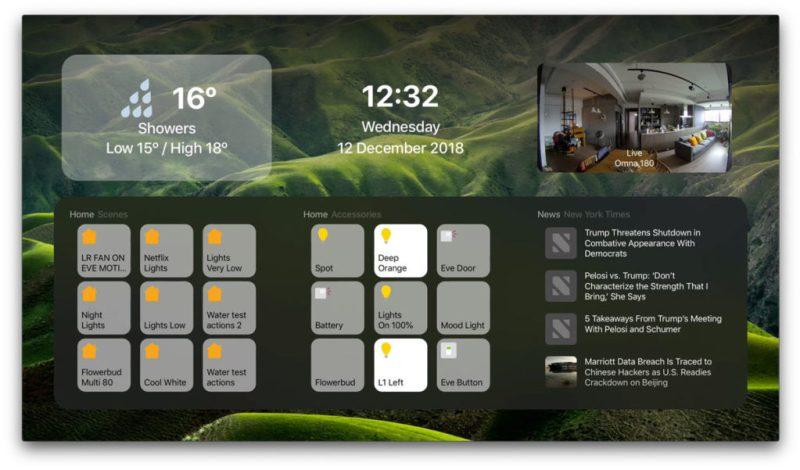 DayView s podporou HomeKit zařízení, scén a kamer.