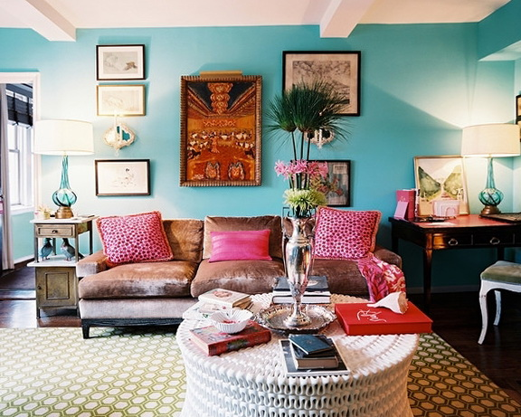 Interior Of Living Room In A Bohemian Style
