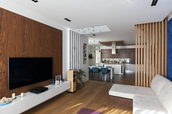 Minimalist Apartment With Plenty Of Niches And Wood Dcor