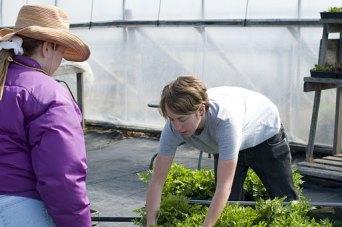 women working on the farm