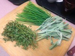 Fresh Chives, Sage, and Thyme