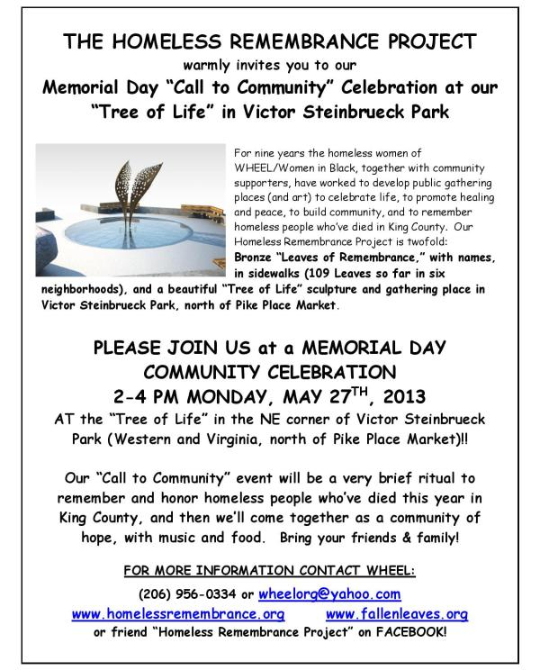 Memorial Day Call to Community Leaflet