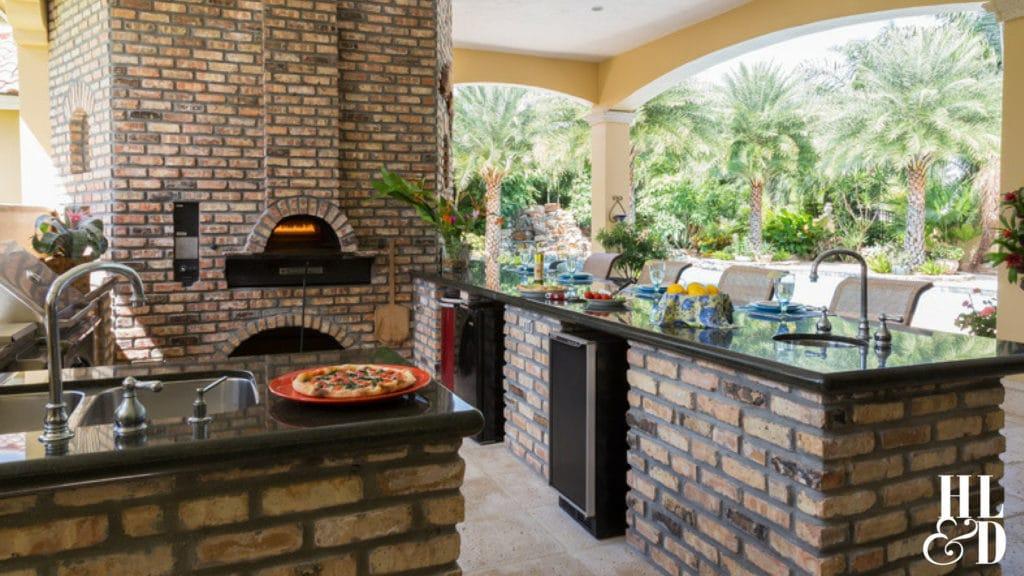 Outdoor Kitchen, Outdoor Pizza Kitchen, Outdoor Dining Area