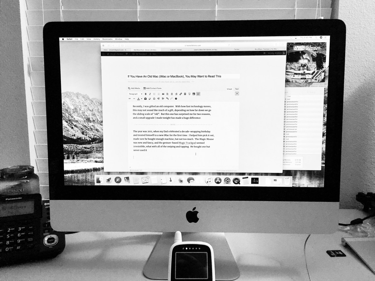 If You Have An Old Mac (iMac or MacBook), You May Want to Read This