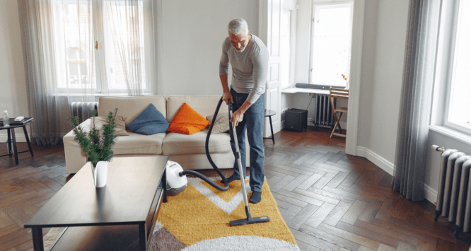 A vacuum used to improve air quality in a home.