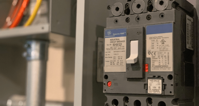 A circuit breaker in a house that sold fast in New Orleans.