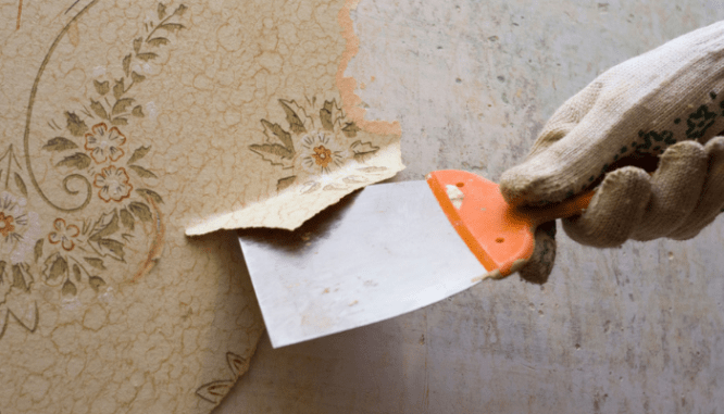 A tool used to remove wallpaper to increase home value.