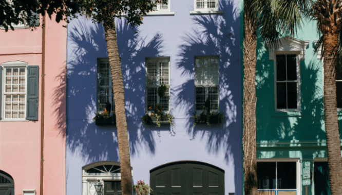 A colorful house to buy in Charleston