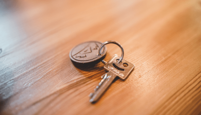 Keys used after purchasing a home with a mortgage.