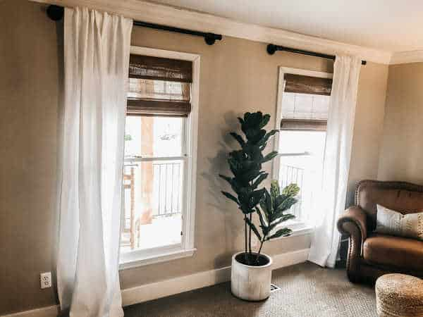how to make a pipe curtain rod home